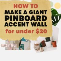 How to make a giant pin board accent wall for under $20