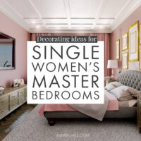Decorating ideas for single women's master bedrooms