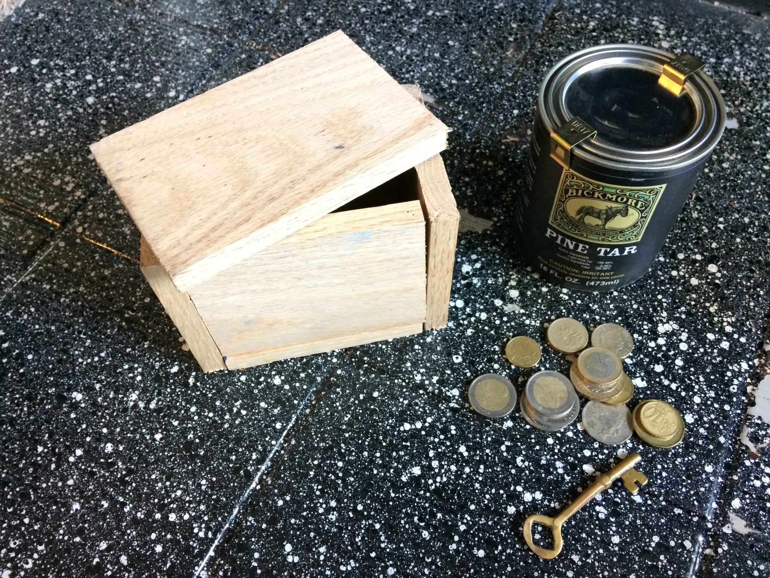 Materials to make a treasure chest