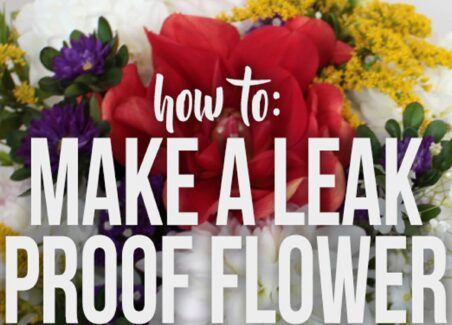 In this tutorial I show how to wrap a bouquet that will last for days without needing water