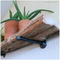 How to make a DIY floating driftwood shelf