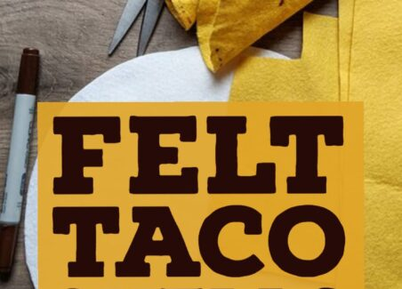 How to make crunchy felt taco shells for felt food and play kitchen pretend play