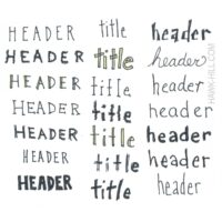 Cheat sheet of hand lettering fonts for bullet journals and sketchnotes