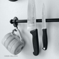 Hack and Ikea rail into a magnetic knife holder