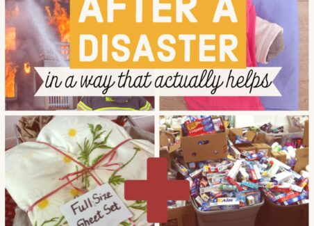 Relief centers are flooded with toiletries and used clothes after a disaster, but these items don't help at all. Read on to find out about more effective donations.