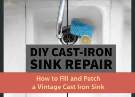 How to patch and fill cracks or rusted sections of cast iron rubs and sinks