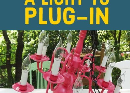 Convert a standard light fixture into a plug in style lamp or swag