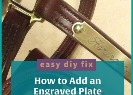 How to add an engraved plate to a strap without special tools