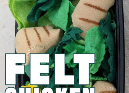 toy chicken nuggets made with felt food pattern