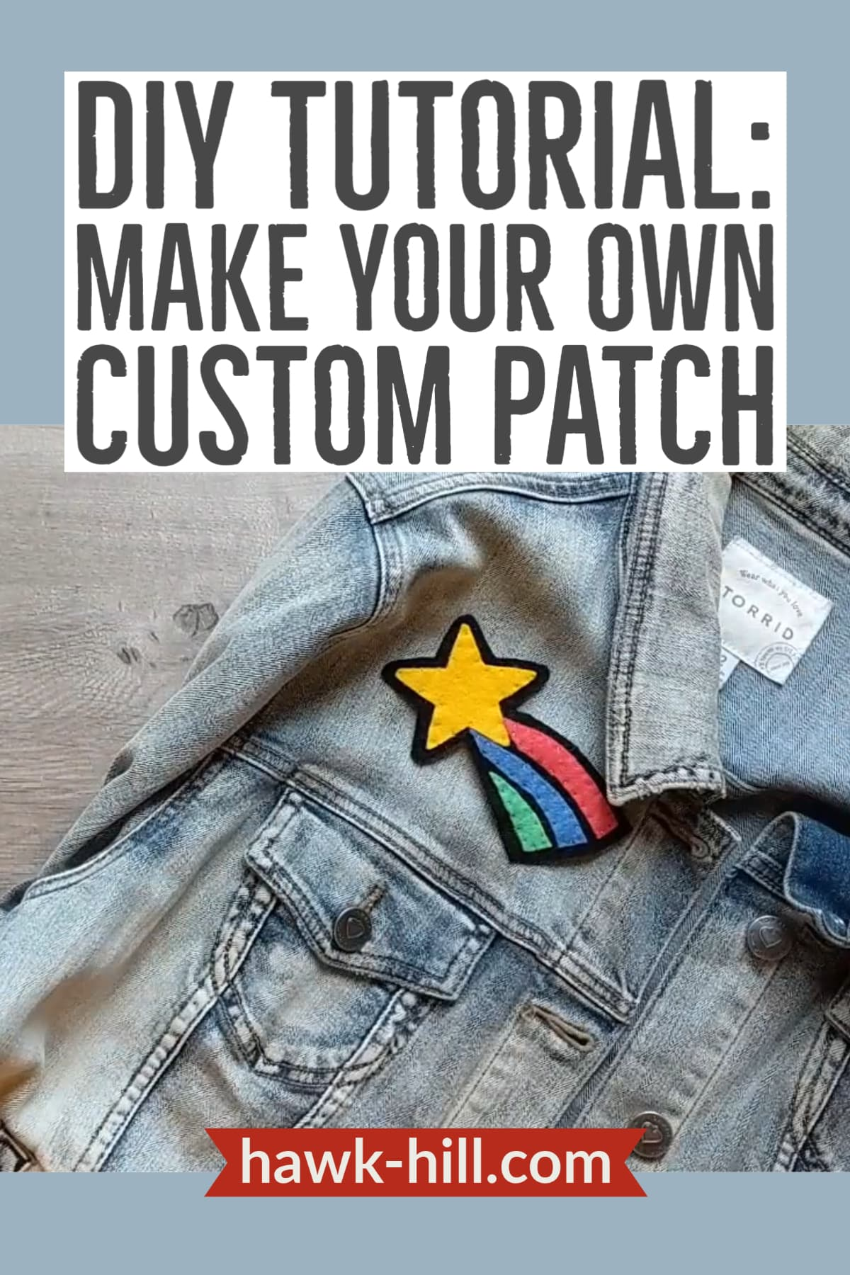 How to make your own jacket patch with felt