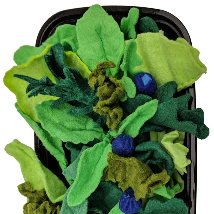 How to make a felt food salad spring mix for children's play kitchens
