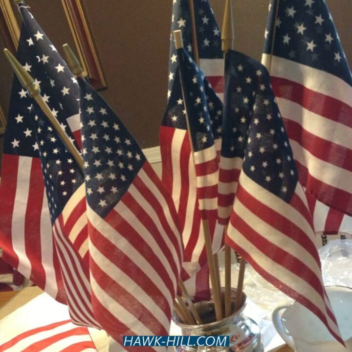 How to make a flag centerpiece for the Fourth of July
