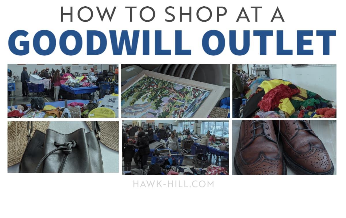 shopping at the goodwill bins is a challenge and an adventure