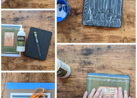 Recovering a tablet case with a custom print is easy