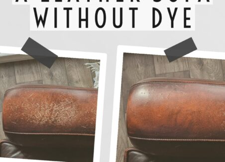 how to repair scratches on a leather couch or sofa