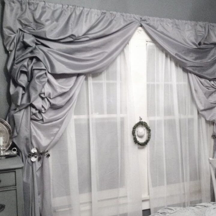 How to make ruffled curtains for under $50 with no sewing skills required in this easy DIY