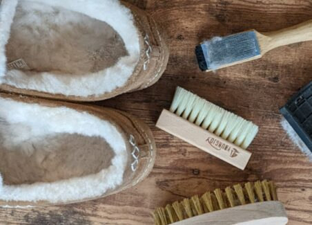 How to clean and fluff sheepskin lining on shoes, boots, slippers, jackets, and more
