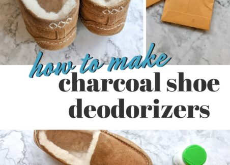 A simple DIY tutorial on how to make your own charcoal shoe deodorizers