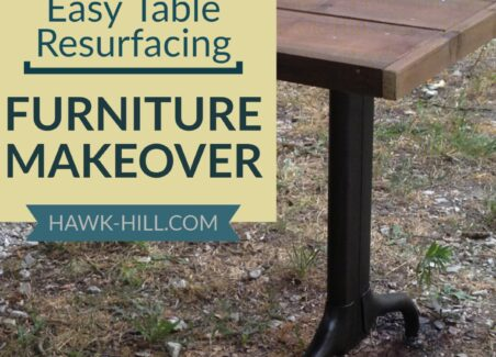 Easy table refinishing by overlaying a new tabletop over existing formica.