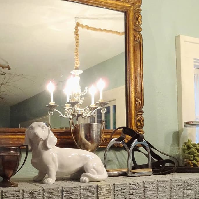How to hang a chandelier in a room without overhead wiring