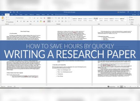 study hack for writing academic research paper in less time