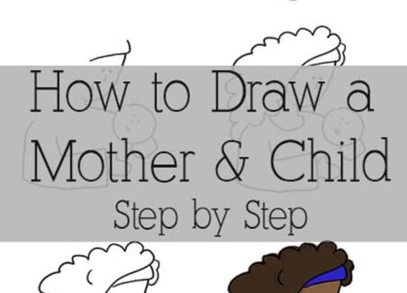 how to make a simple doodle of a mother and child
