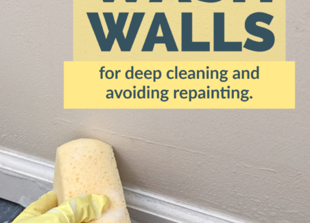 closeup of a wall being washed.