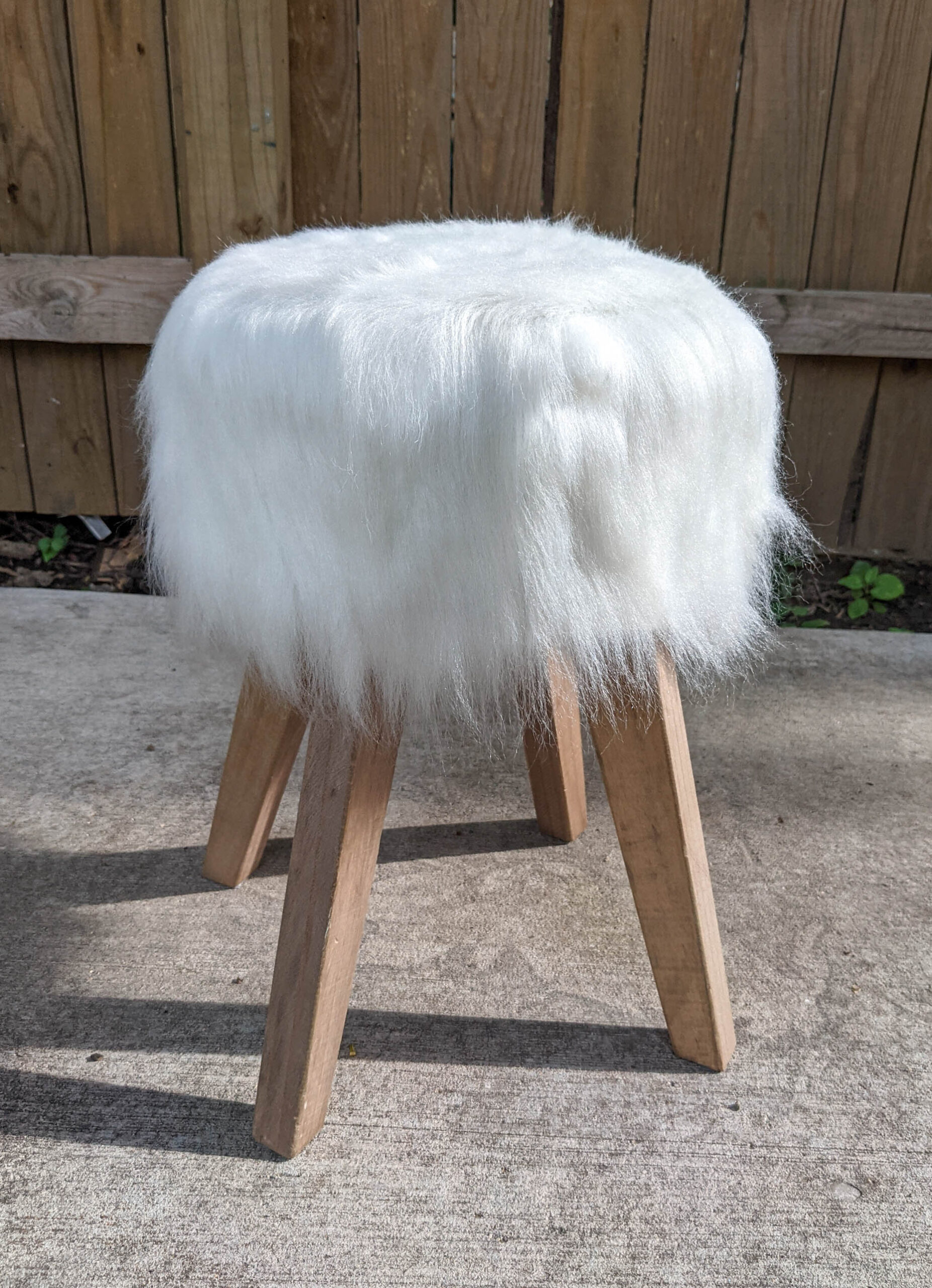 Ottoman after cleaning and combing.