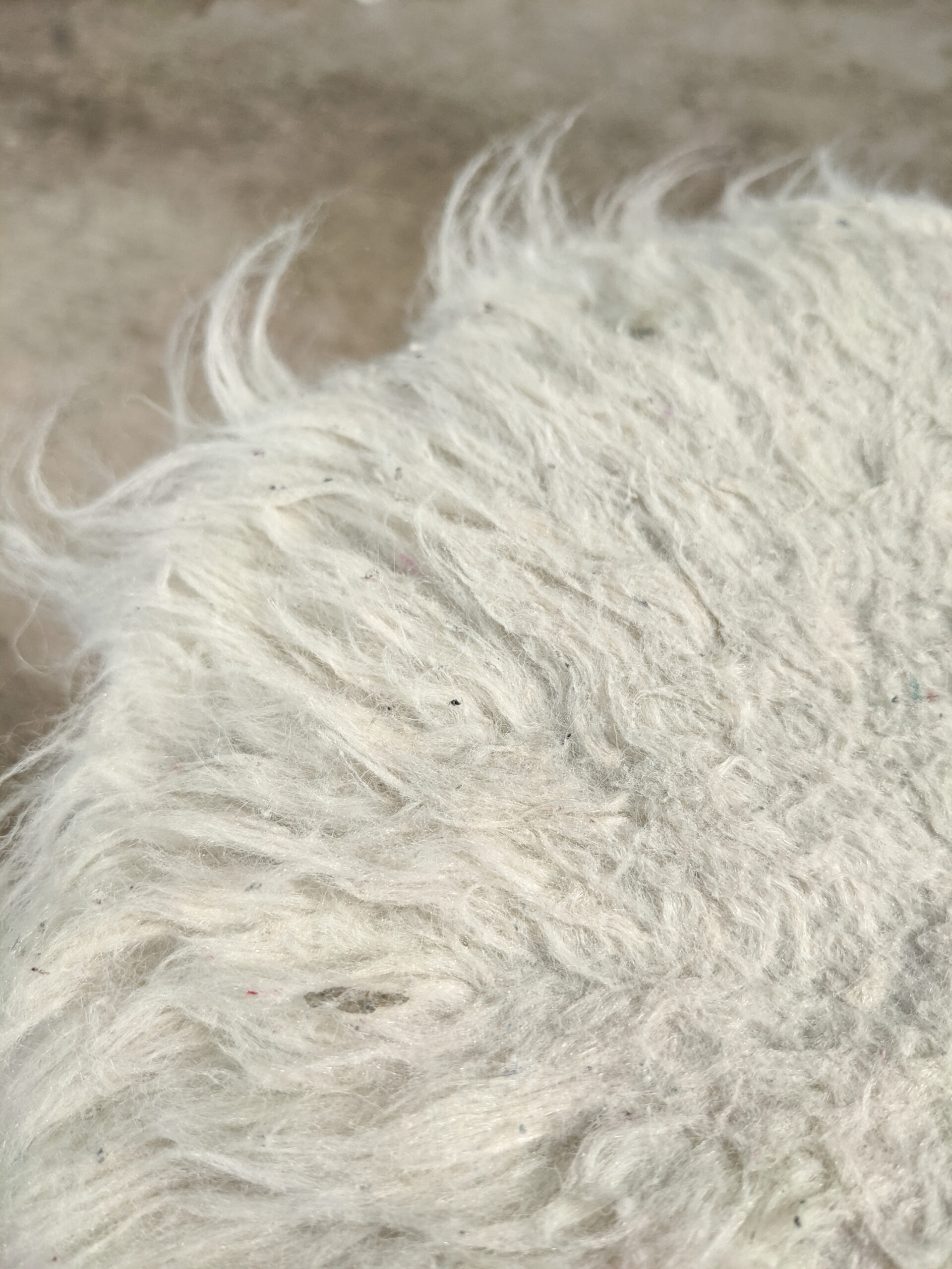 Fake fleece is notorious for matting.