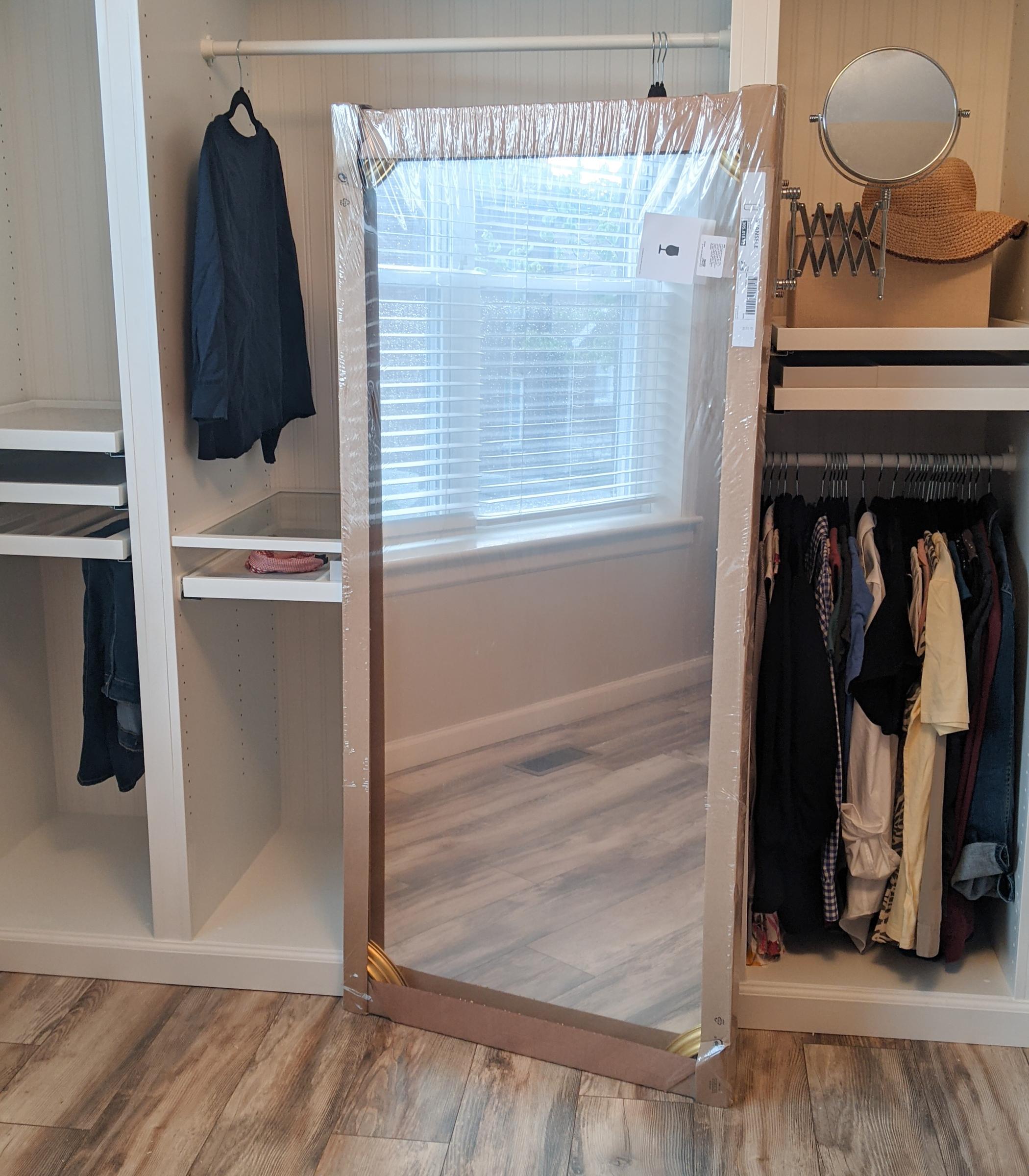 Ikea Svansele mirror before un boxing
