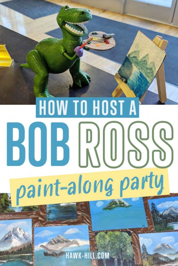 Step by step instructions for gathering supplies, preparing materials,a nd hosting an epic paint-along party