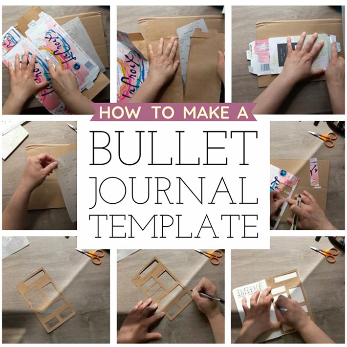how to make a bullet journal template
