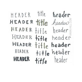 Basic hand lettering font - thumbnail of free download