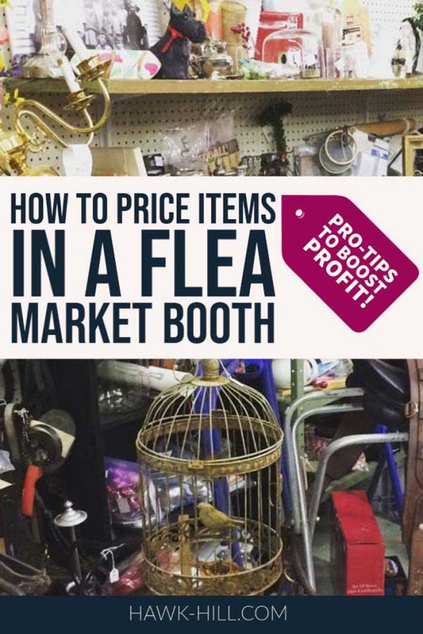 how to price items in a flea market booth