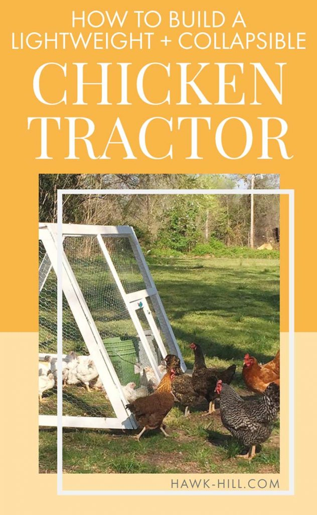 easy to fold and store this chicken tractor has served me well