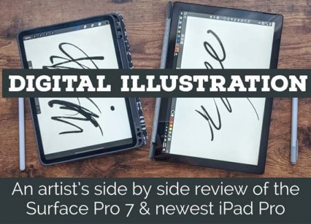 A digital artist compares the Surface Pro 7 to the iPad Pro