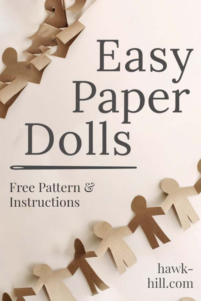 trace our template for free paper doll craft
