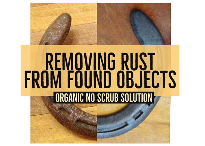 Easy DIY instructions for dissolving rust from tools and antiques