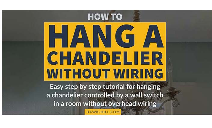 the no-electrician-needed way to hang a chandelier in an apartment without losing your deposit