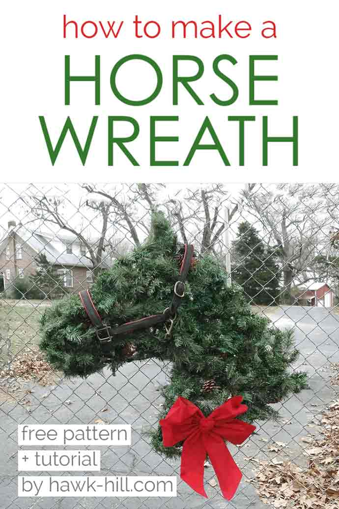 How To Make A Horse Head Shaped Horse Wreath For Your Home Or Farm Hawk Hill