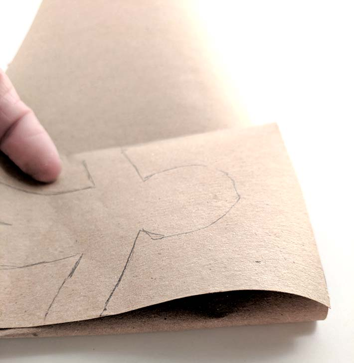 iron paper for a clean chain fold