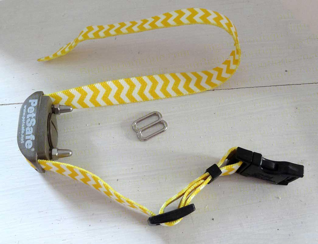 plastic slide on a dog collar