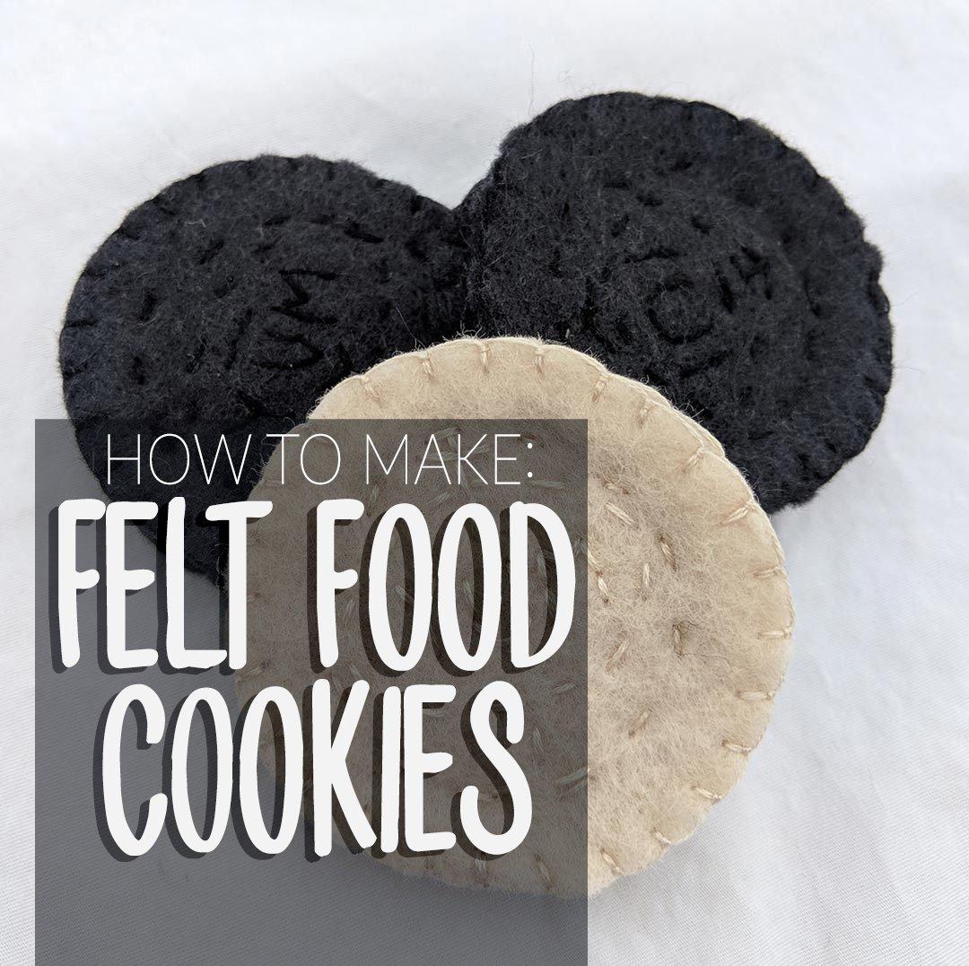 how to make felt oreo-like cookies