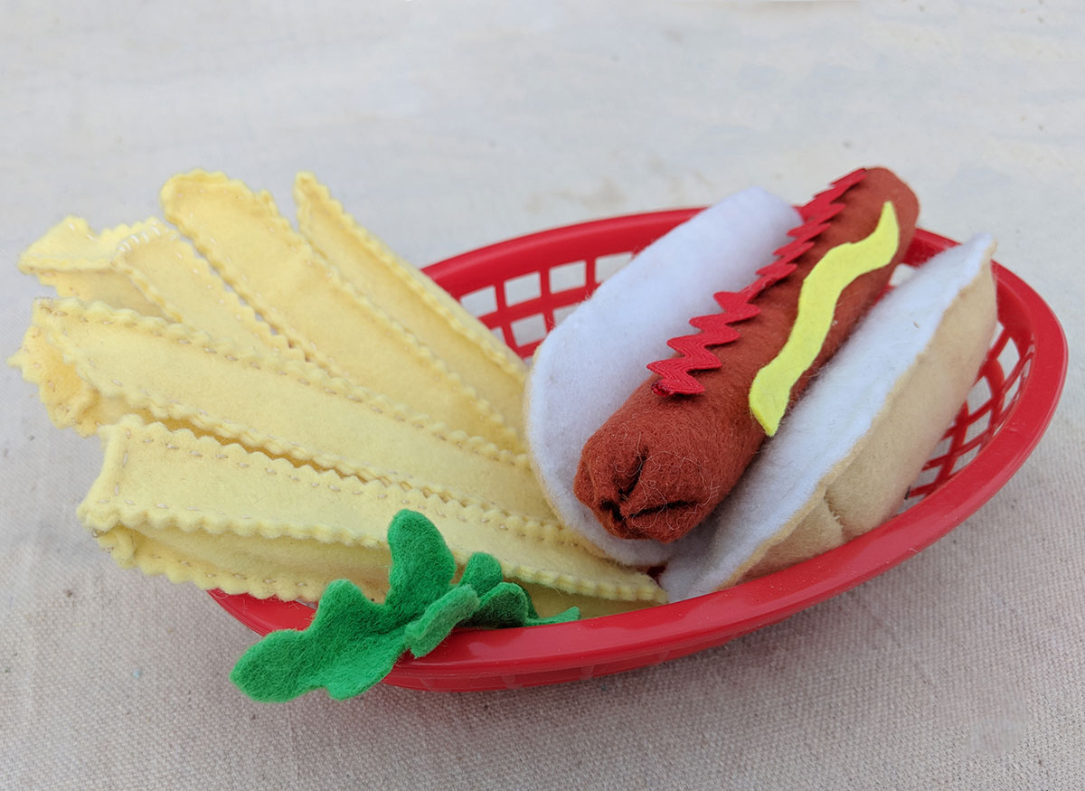 with these felt French fries, the meal is complete