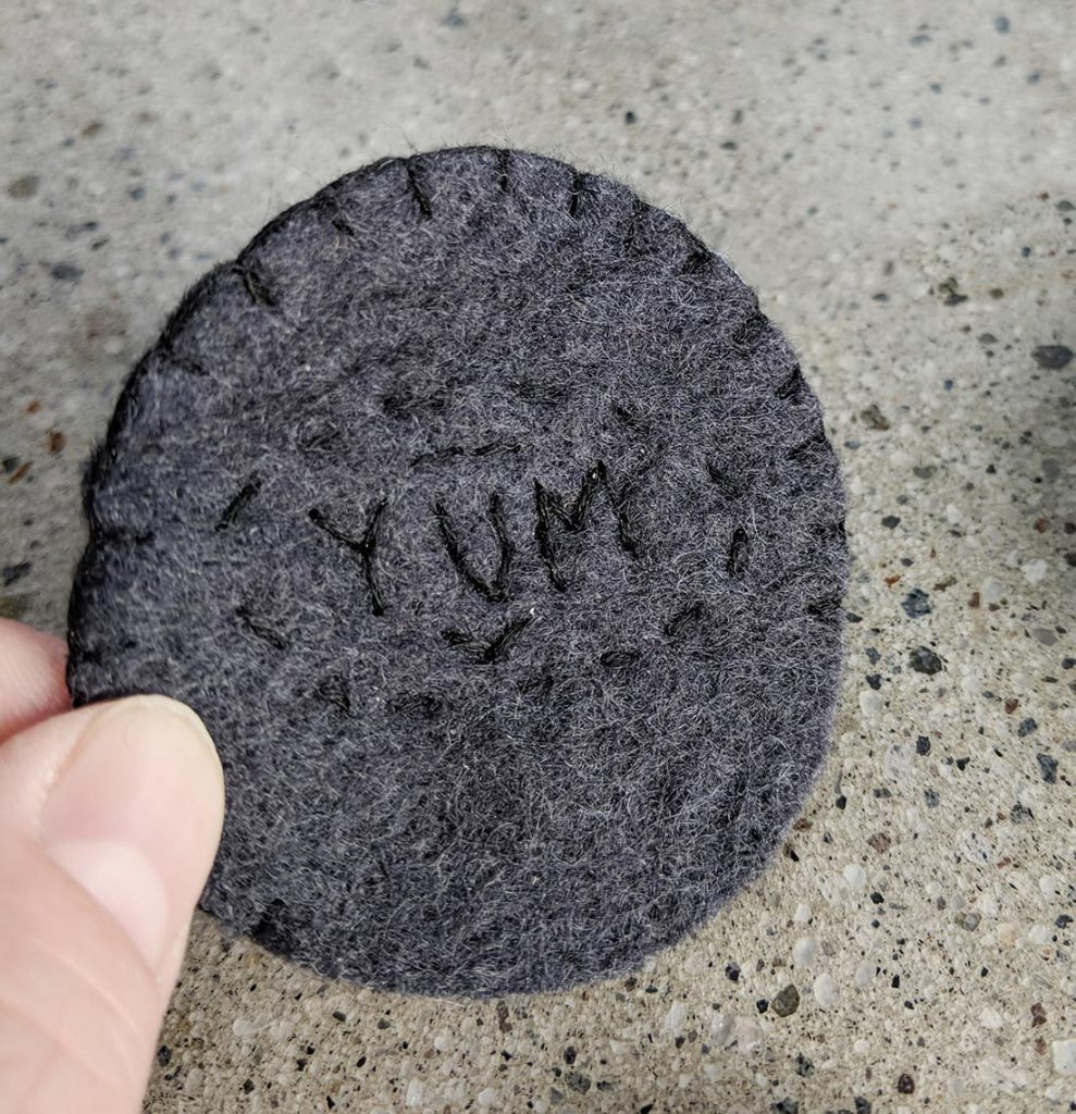 how to make a felt oreo cookie toy