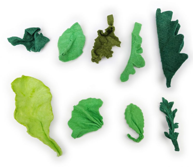 felt salad greens assortment