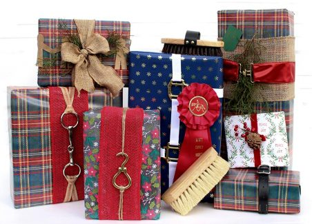 equestrian wrapping on gifts