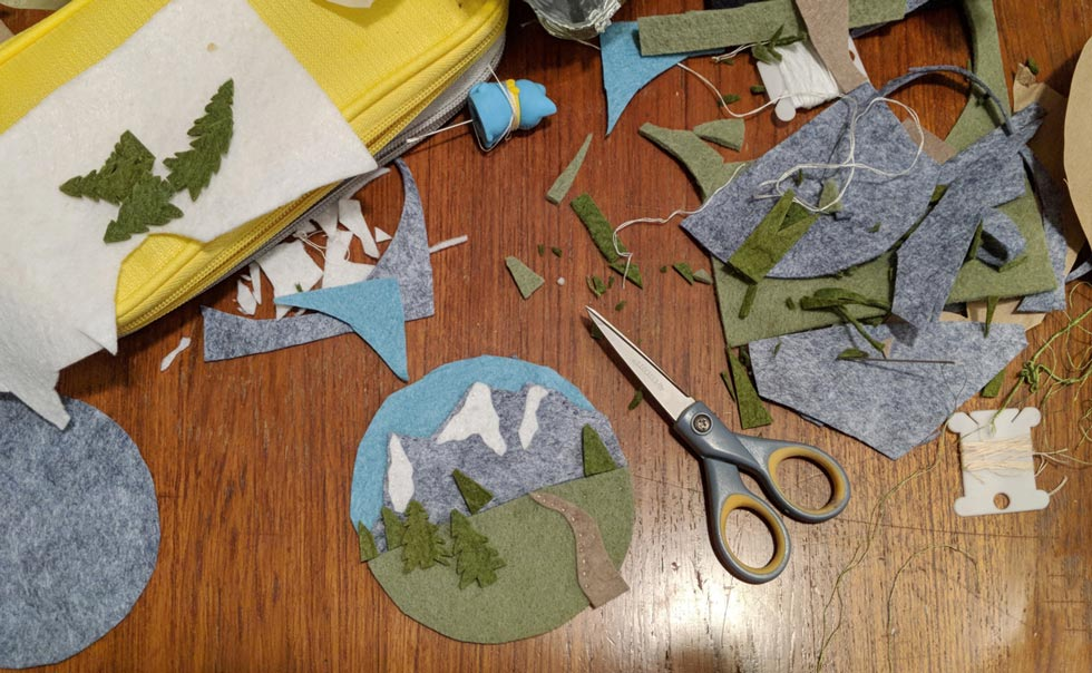 handmade camp and mountain DIY gift