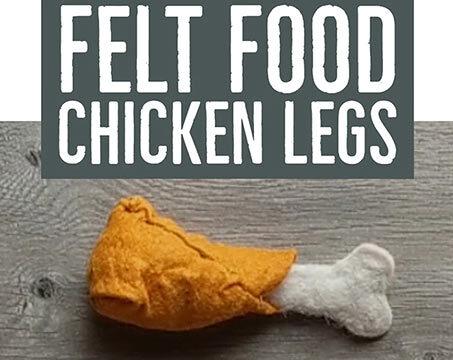 make a felt food chicken leg