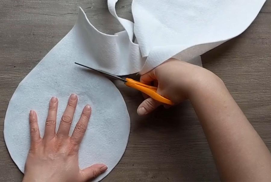 How to make a felt flour tortilla